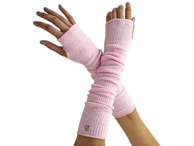 Pink Long Arm Warmers With Thumb Hole