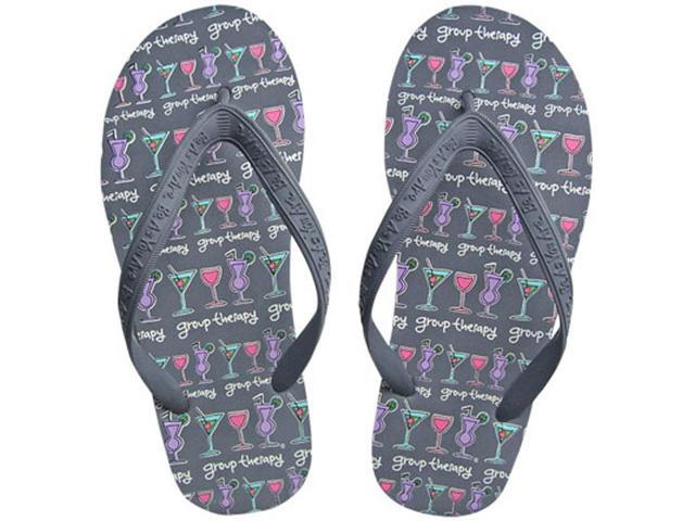 Group Therapy Drinking Women's Novelty Comfy Flip Flops