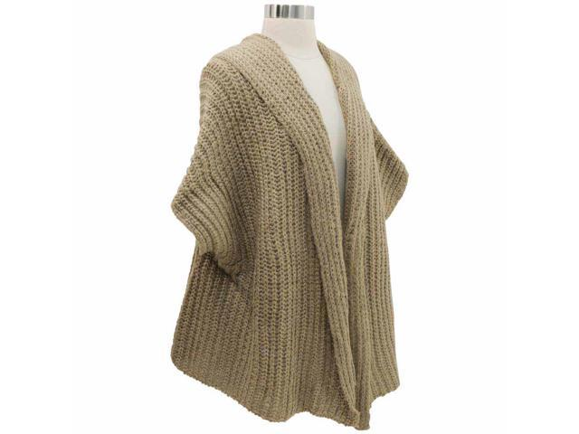 Taupe Chunky Knit Shrug Shawl