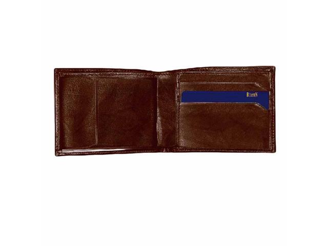 Brown Buxton Men's Leather Convertible Bifold Wallet