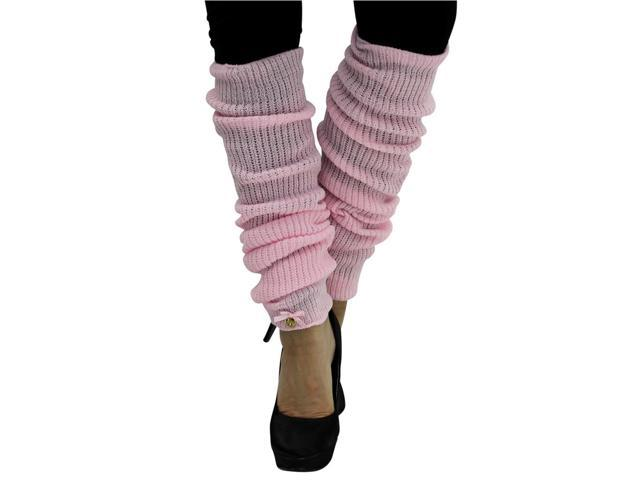 Pink Long Thick Knit Dance Leg Warmers