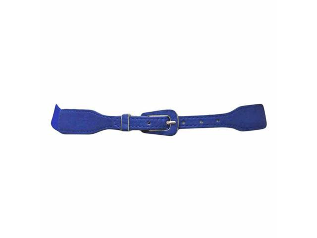 Blue Skinny Cinch Waist Belt With Small Buckle