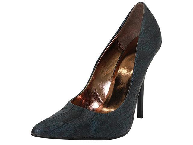 Off Black Snake Textured High Heel Pumps For Women Size 8