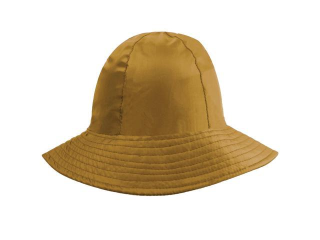 Beige Reversible Rain Or Sun Style Bucket Hat