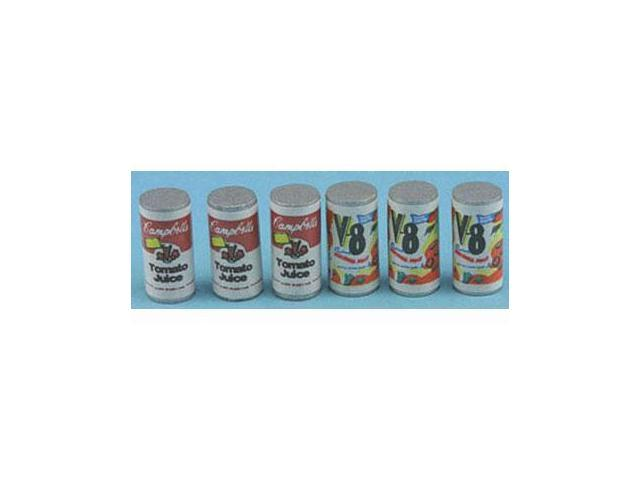 Dollhouse FOOD CANS, 6/PC
