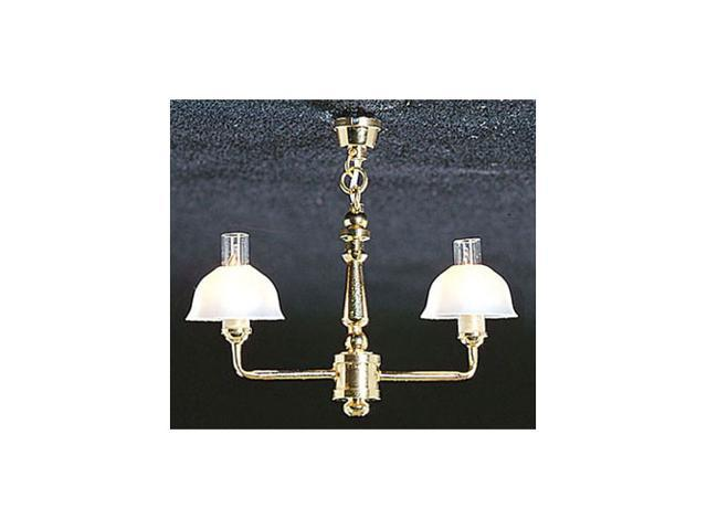 Dollhouse &MH722: 2 UP-ARM BELL SHADE CHANDELIER