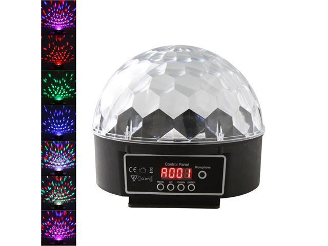 New Digital LED RGB Crystal Magic Ball Effect Light DMX Disco DJ Stage Lighting 90-240V ( US Plug)