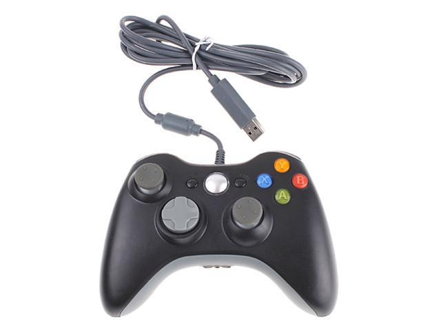 USB Wired Controller for Microsoft Xbox 360 XBOX360 OEM Black