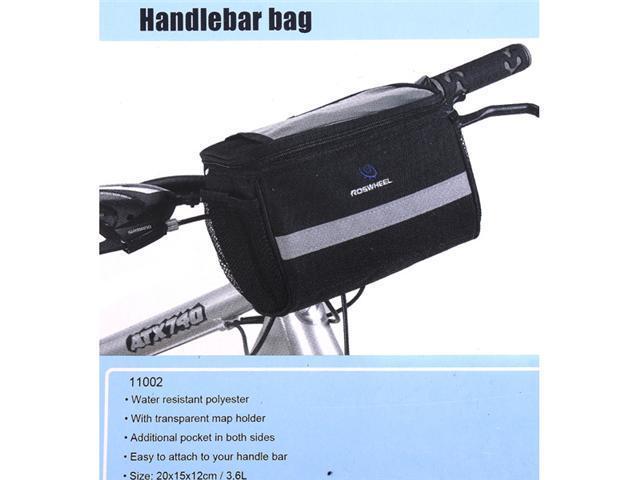 Black Bicycle Cycling Handlebar Bag Front Tube Pannier Rack Bag Basket