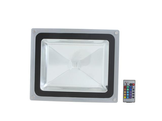 50W Outdoor LED Flood Light w/ Remote Control 85-265V, RGB Color Change