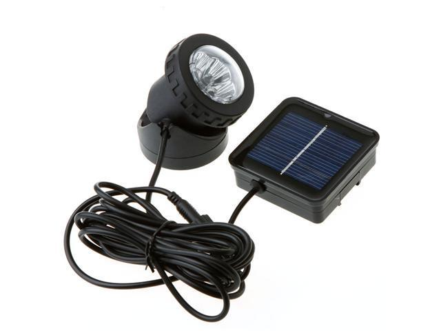 Outdoor Solar Powered LED Spotlight Garden Pool Waterproof Spot Light Lamp
