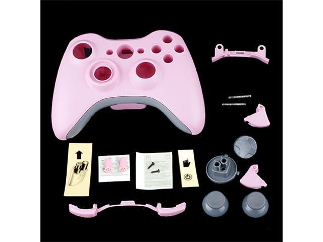 Pink Wireless Controller Full Shell Faceplate Case for XBOX 360