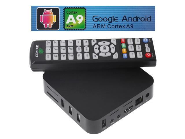 Google Android 4.0 ARM Cortex A9 HDMI HD 1080P Wifi Internet TV Set-Top Box Media Player Black