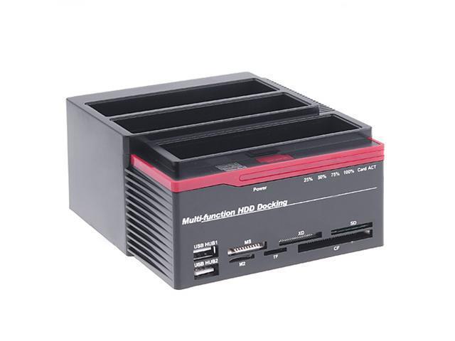 "2.5/3.5"" 3x SATA HDD Docking Station Clone USB HUB"
