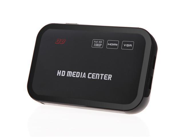 Full HD 1080P Media Player Center RM/RMVB/AVI/MPEG Multi Media Video Player with HDMI YPbPr VGA AV USB SD/MMC Port Remote Control