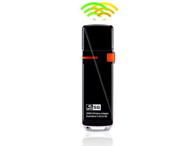 Wireless-N USB Adapter Dual Band 2.4G/5G 300Mbps 802.11a/b/g/n