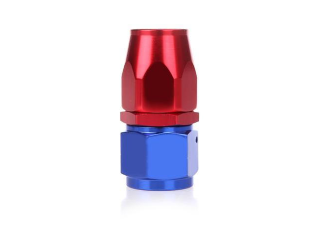 AN10 Straight Swivel Oil Fuel Hose End Fitting Adapter Aluminum Red