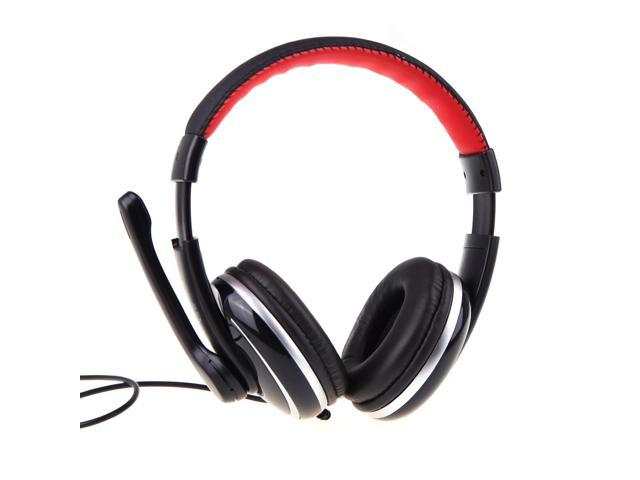 OVLENG OV-Q6 USB Stereo Headphone Headset Microphone Mic for Laptop PC Computer