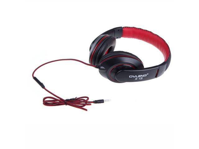 OVLENG X13 3.5mm Jack Stereo Headphone Earphone Headset with Microphone Cable Controller for iPhone iPod Samsung MP3 PC Notebook Skype
