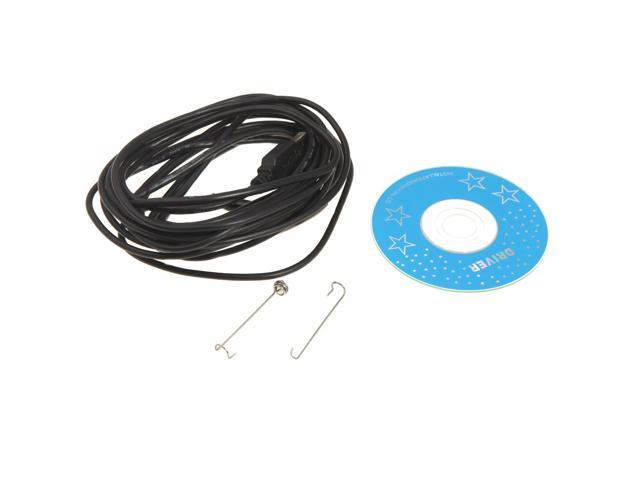 Waterproof 7mm USB Inspection Borescope Endoscope Snake Scope with Snapshot Button 6pcs LED 5m Tube