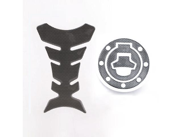 New Carbon-Look 2PCS Fuel Tank Decal Pad + Gas Cap Pad Cover Sticker For Suzuki Katana GSX 600F 750F R 600 750