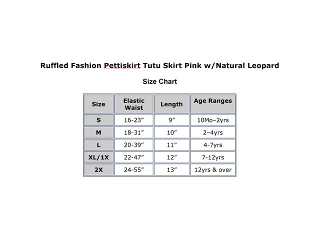 Ruffled Fashion Pettiskirt Tutu Skirt Pink w/ Natural Leopard