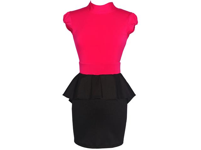 Peplum Cutout Colorblock Dress