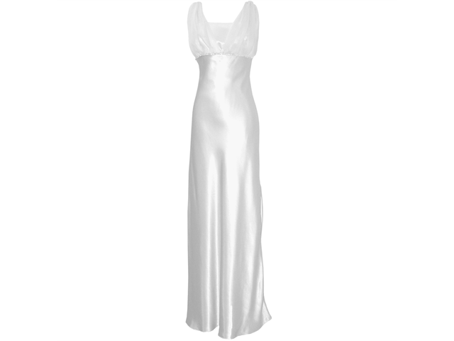 Satin Chiffon Prom Dress Holiday Formal Gown Crystals Full Length Junior Plus Size