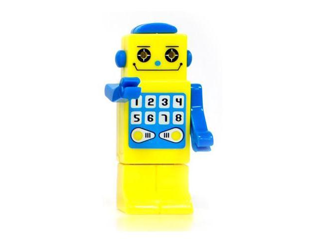 TAPAS ROBOT 8GB USB 2.0 Flash Drive with LED eyes (Yellow) Model FGR09B5I02301