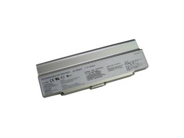 Compatible for Sony VAIO VGN FS745P/H 12 Cell Silver Battery