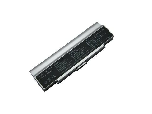 Compatible for Sony VAIO VGN S38CP/B 9 Cell Silver Battery