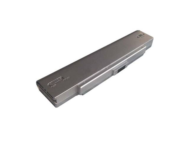 Compatible for Sony VAIO VGN N38E/W 6 Cell Silver Battery