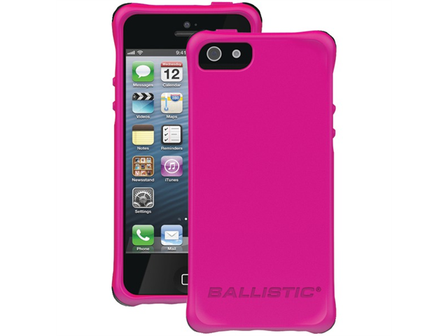 BALLISTIC LS0955-M695 iPhone(R) 5/5S LS Smooth Case (Hot Pink with 4 Black, 4 White, 4 Purple, 4 Hot Pink Bumpers)