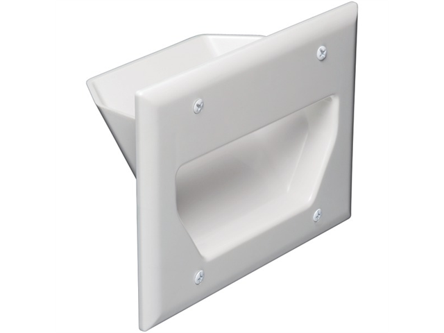 Datacomm Electronics 45-0003-Wh White 3 Gang Recessed