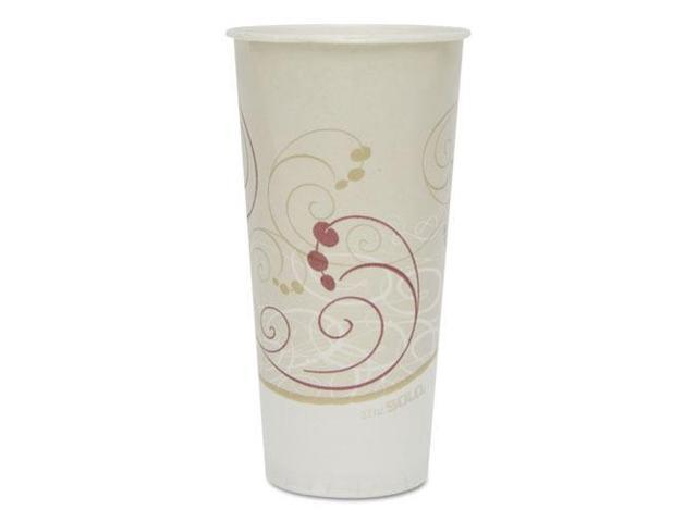 Solo Cup - RS22N-J8000 - Symphony Treated-Paper Cold Cups, 22oz, White/Beige/Red, 50/Bag, 20 Bags/Carton