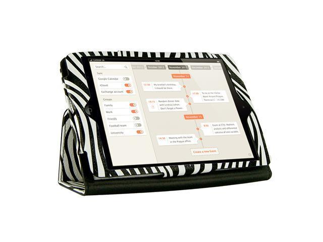 KIQ Zebra Design Portfolio Leather Case Cover Skin for Apple Ipad Mini 7.9