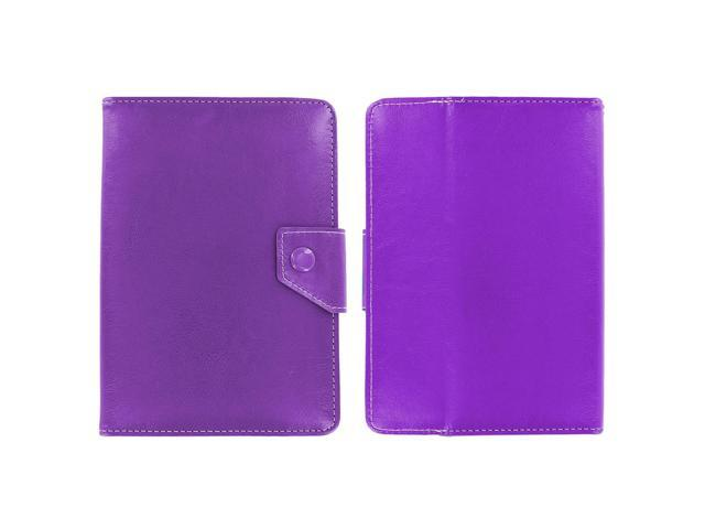 KIQ (TM) Purple Adjustable 4 Corners Luxury Leather Case Cover Skin for Toshiba A T270/002