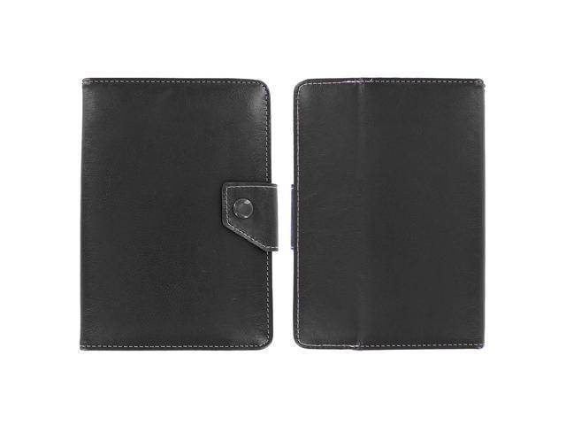 KIQ (TM) Black Adjustable 4 Corners Luxury Leather Case Cover Skin for Verizon Ellipsis 7