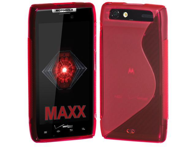 Cimo S-Line Flexible Cover TPU Case for Motorola DROID RAZR MAXX - Red