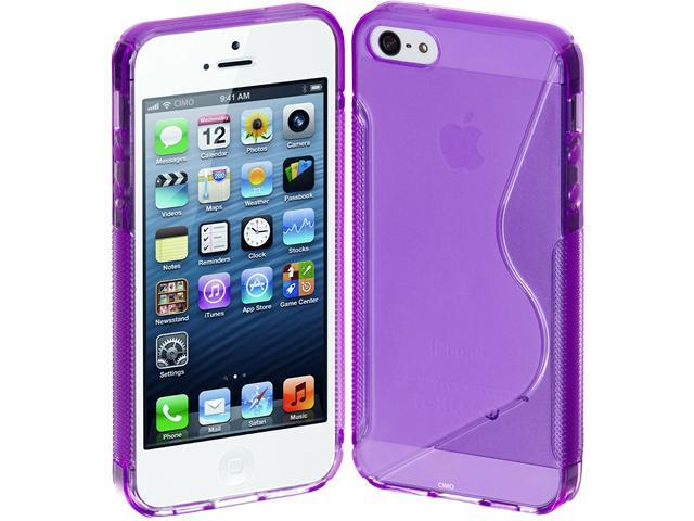 Cimo S-Line Back Flexible Cover TPU Case for Apple iPhone 5 (AT&T, Sprint, Verizon) - Purple