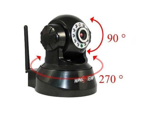 Wansview Wireless IP Pan/Tilt/ Night Vision Internet Surveillance Camera Built-in Microphone With Phone remote monitoring ...