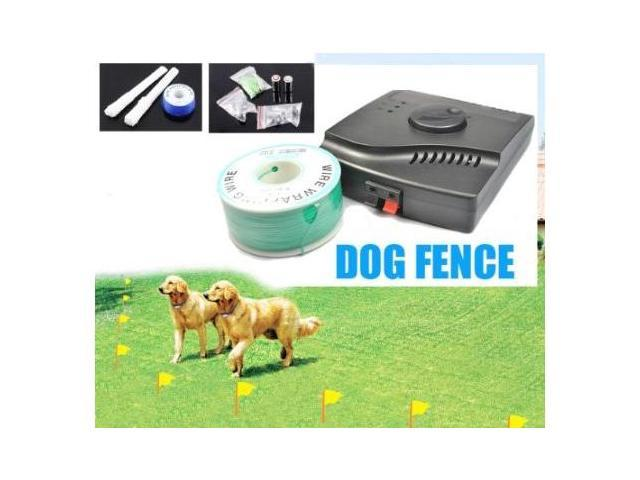 Esky Waterproof Hidden In-ground Electronic Fence Dog Shock Collar System with 3 collars