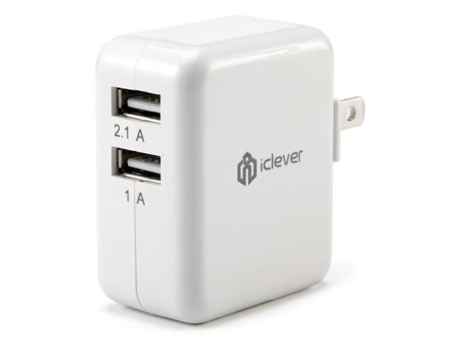 iClever 3.1A 15W Dual USB Travel Wall Charger