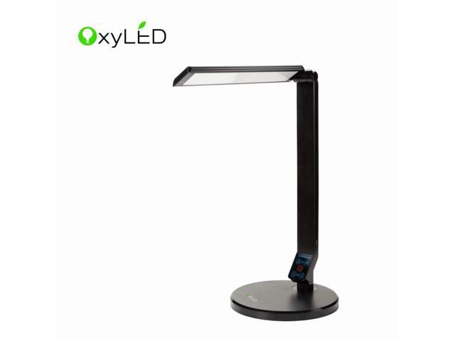 OxyLED Smart L120 Eye-care Full Spectrum LED Desk Lamp, 5 Light Spectrums, 5 Dimmable Level, USB Charging Port, Safe Touch Panel [Non-beeping Version]