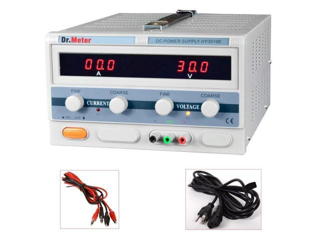 Dr.Meter HY3010E 30V/10A Lab Grade Regulated Variable Switching DC Power Supply