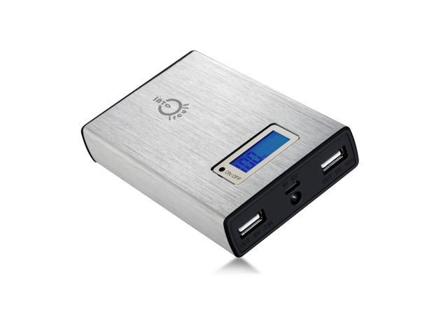 Intocircuit 11200mAh 5V 2A/1A Dual USB Portable External Battery Pack Charger Power Bank