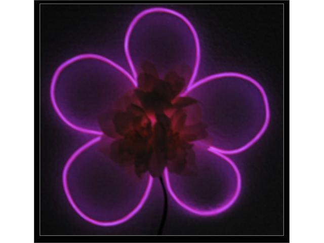 Esky 10ft Purple Violet Neon Glowing Strobing Electroluminescent Wire (El Wire)