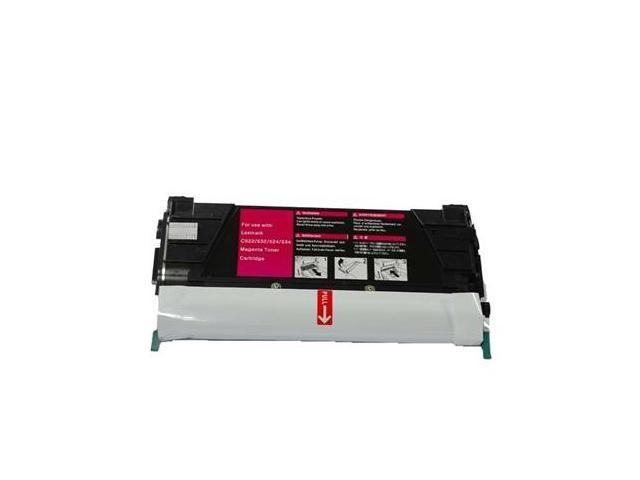Laser Tek Services® Magenta Remanufactured Replacement Toner Cartridge for the Lexmark C524 C5242MH