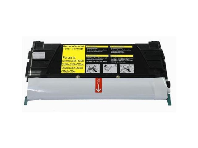 Laser Tek Services® Yellow Remanufactured Replacement Toner Cartridge for the Lexmark C524 C5242YH