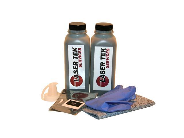 Laser Tek Services ® 2 Pack Black Toner Refill Kit with reset chips for the Dell 310-5400 310-5401 1700 1700n 1710 1710n